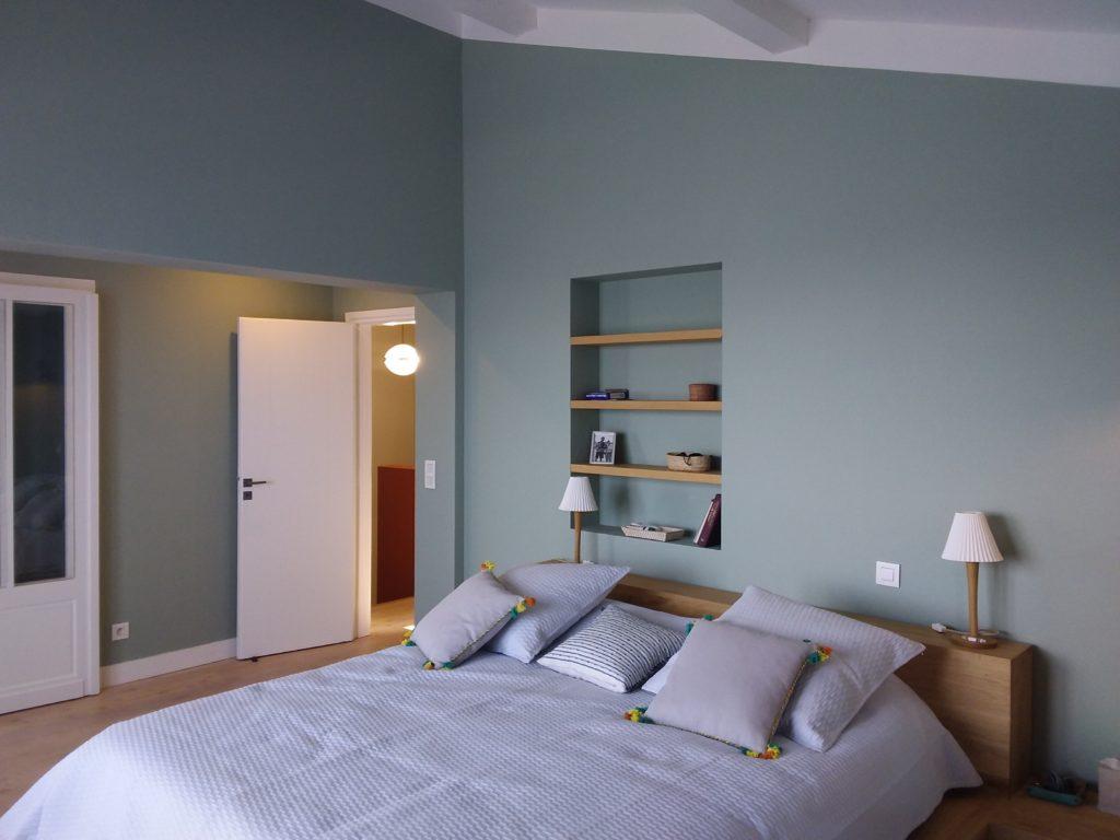 Bouron Little Greene travaux Pyla - Aquamarine 138 chambre