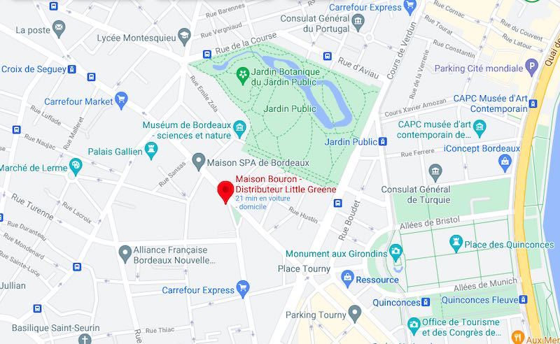 plan accès Maison Bouron Bordeaux